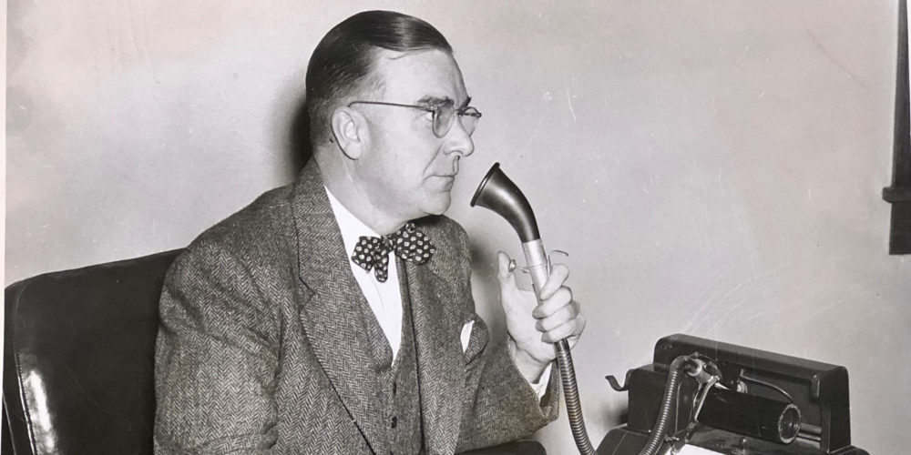Black-and-white photo of Chancellor William P. Tolley