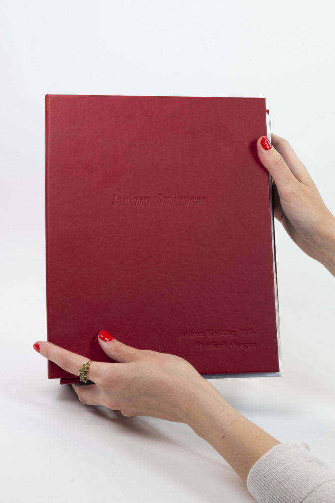 Red embossed book cover