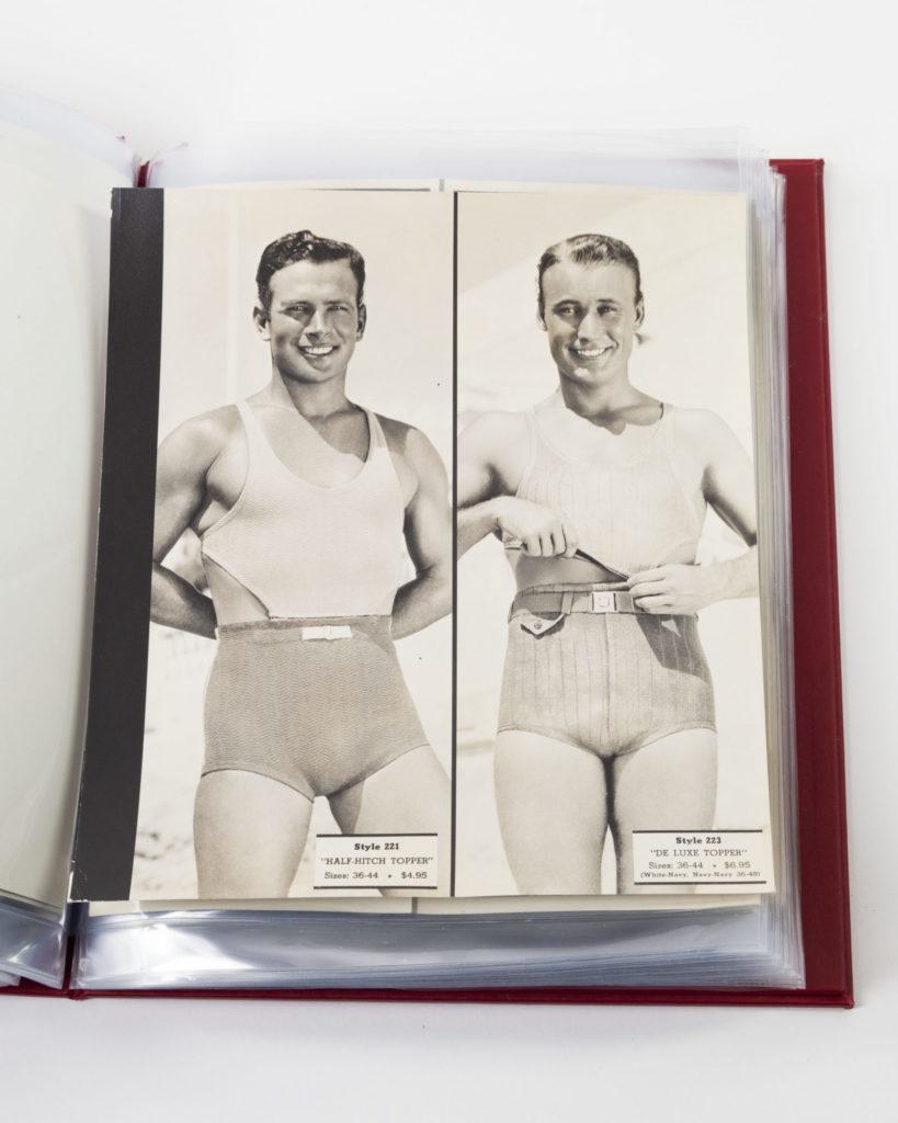 Male models wearing swimsuits