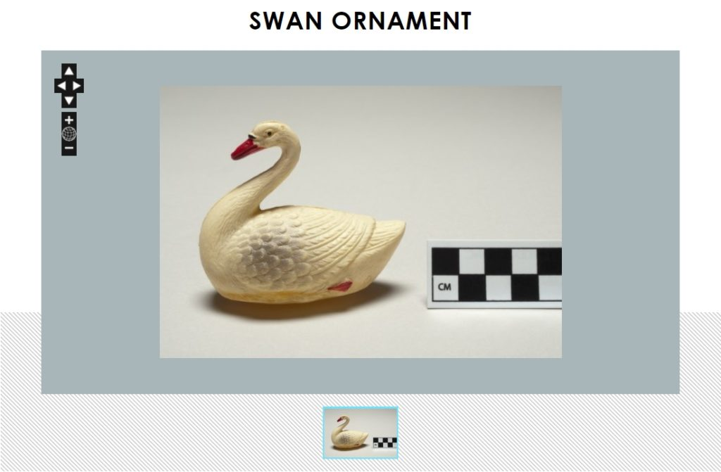 Plastic celluloid swan