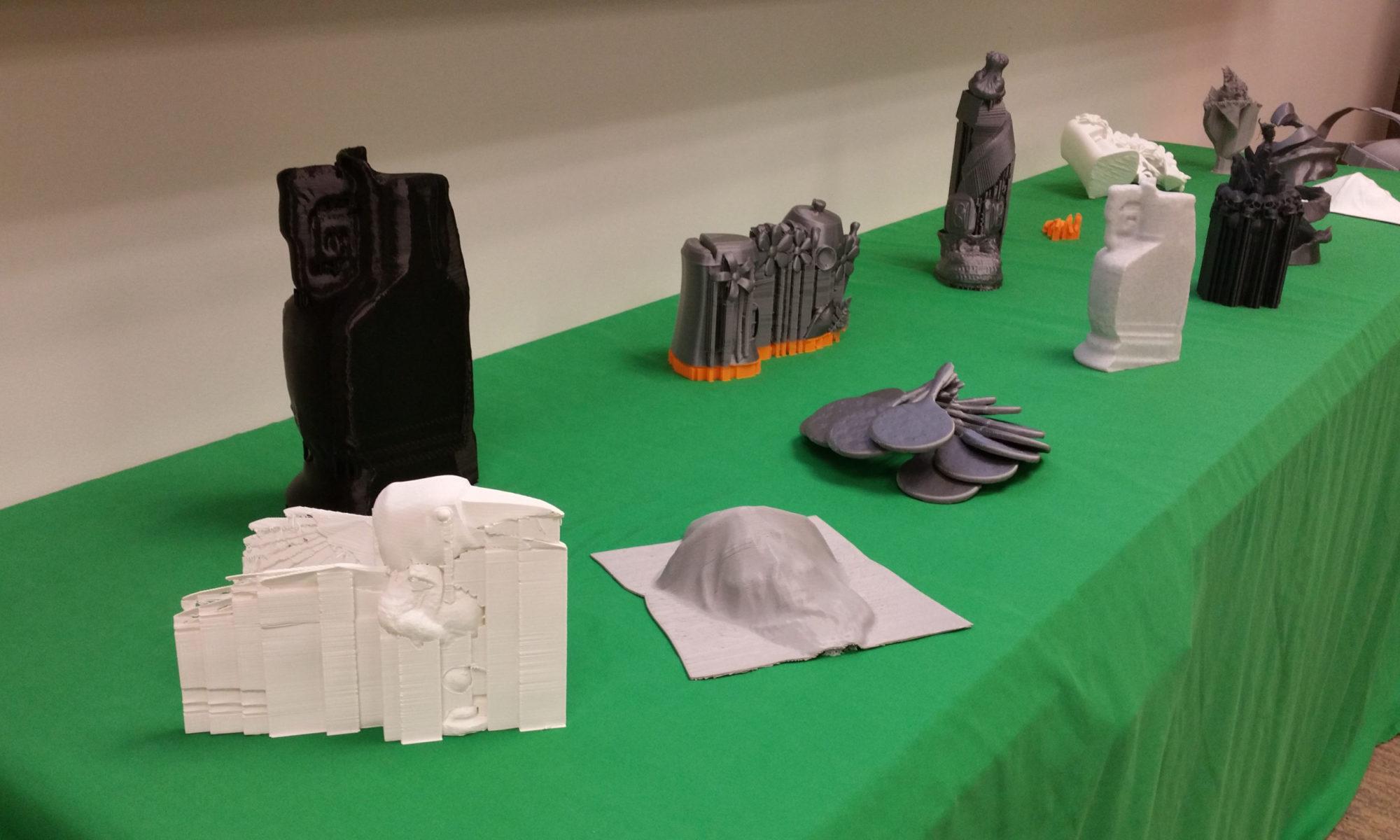 3D printed plastics artifacts