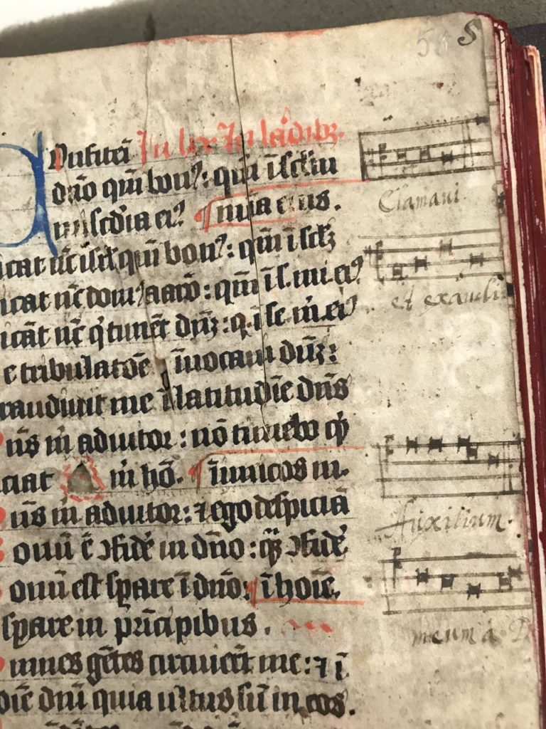 Music notation in medieval manuscript