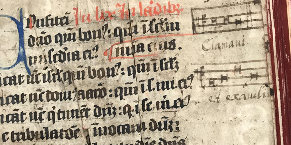Detail of music notation