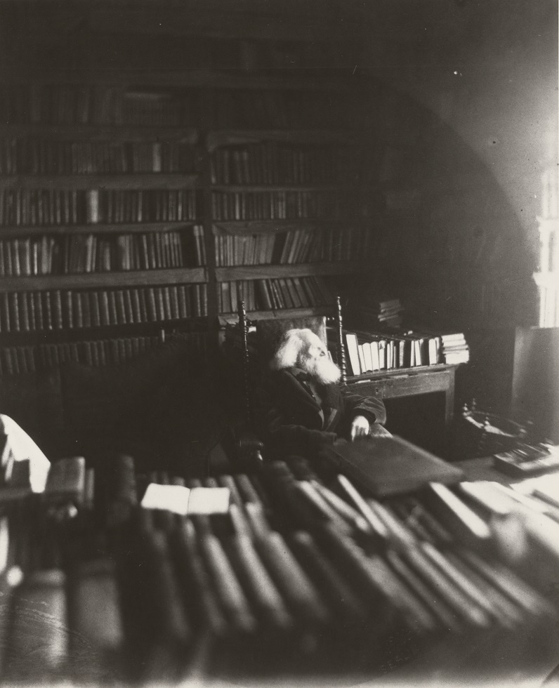 Leopold von Ranke in his library, early 1880s