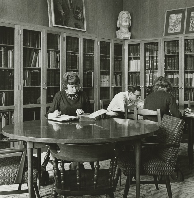 Interior of the von Ranke Library, circa 1900