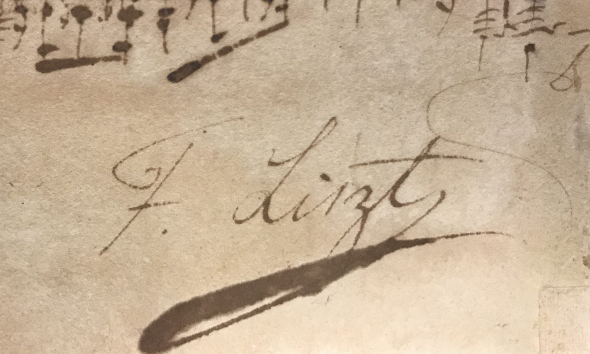 Faded ink signature on parchment