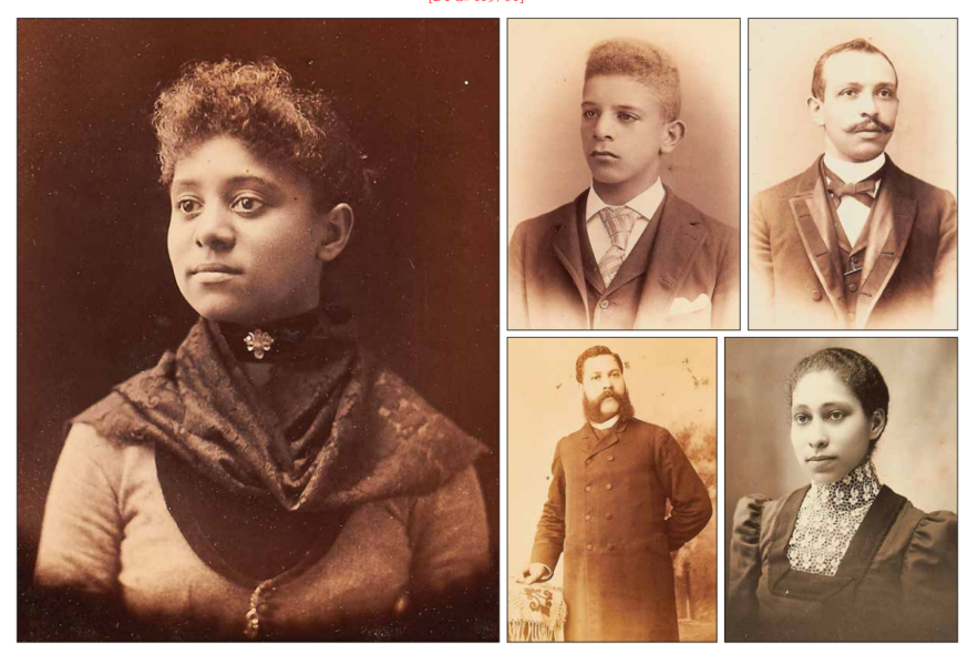 A selection of portraits from a 19th century photo album