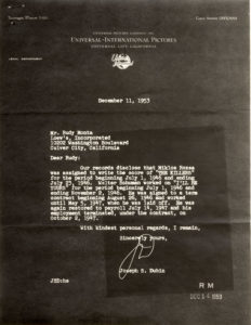 1953 copyright letter