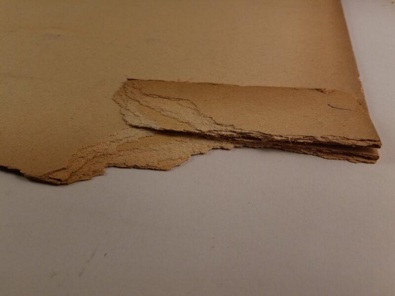 Brittle edge of illustration board