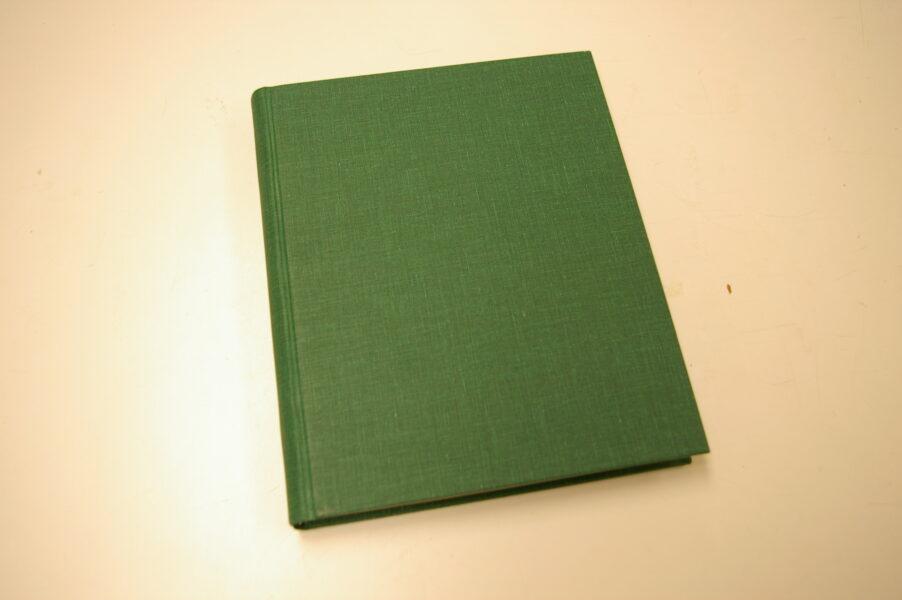 Green book binding
