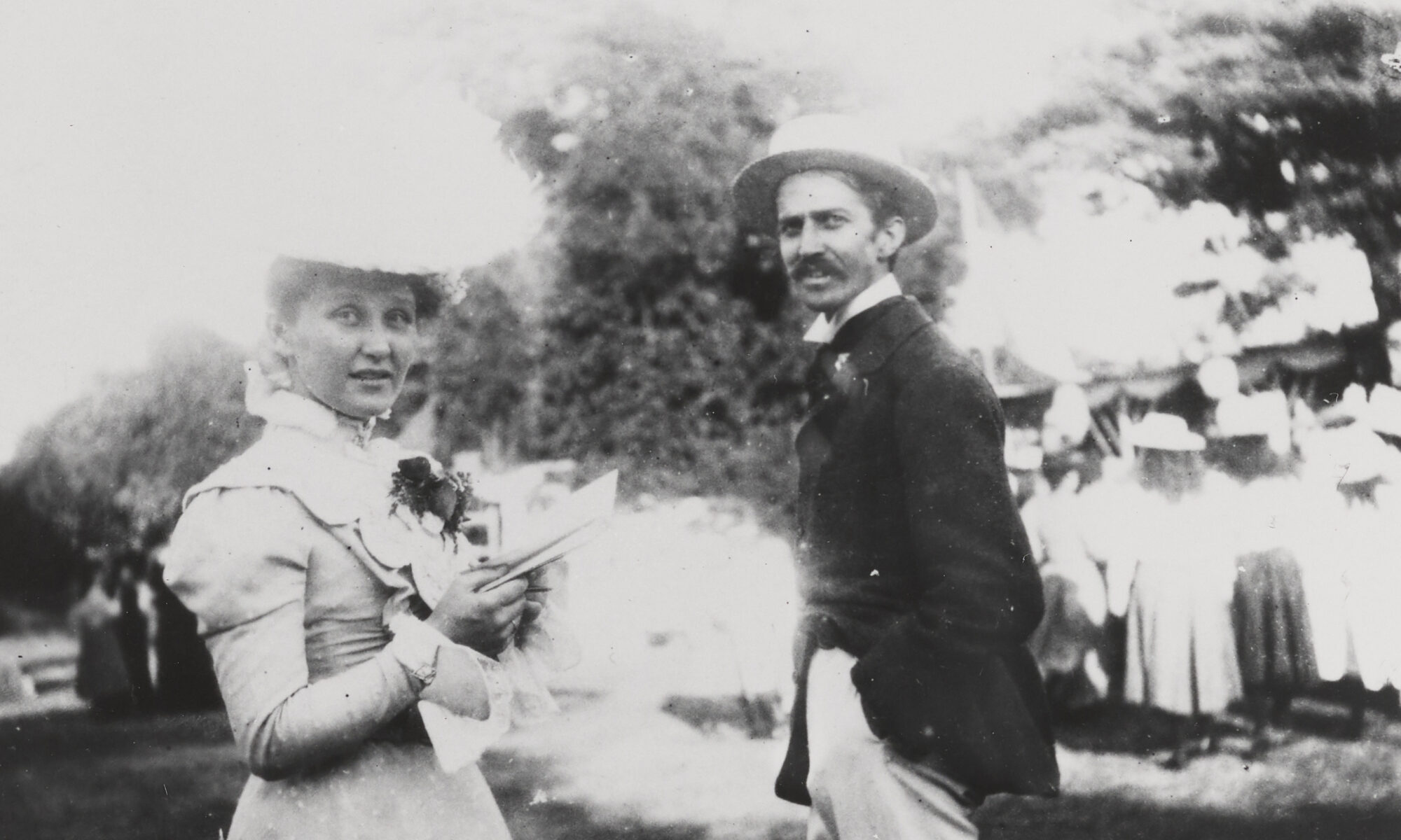 Black and white photo of early 20th century man and woman