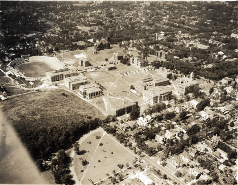 Syracuse University aerial view.