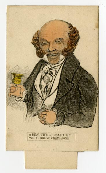Metamorphosis card of Martin Van Buren