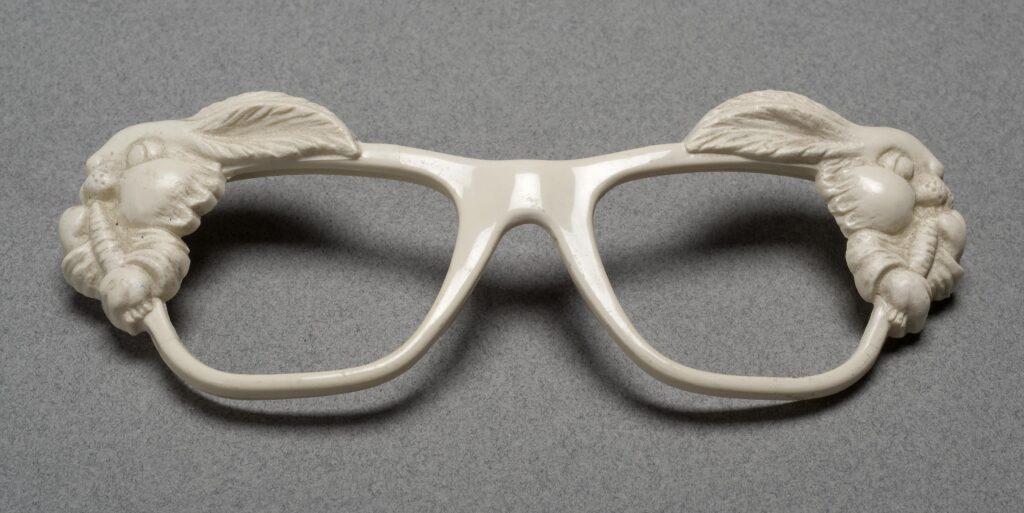 White sunglasses frames.