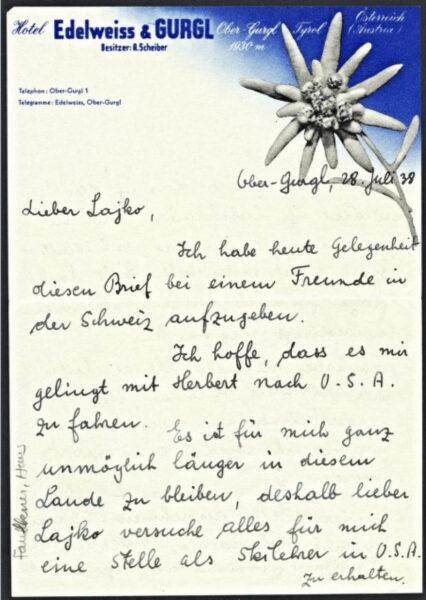 Marcel Breuer letter