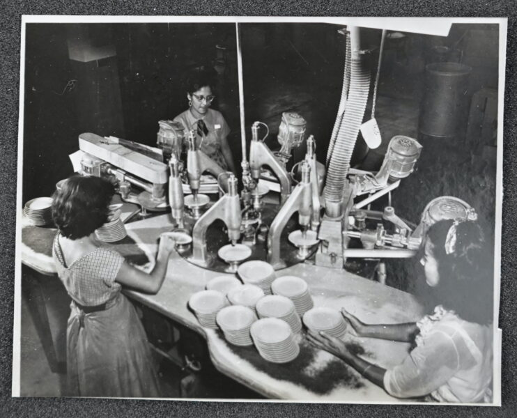 Female workers in factory.