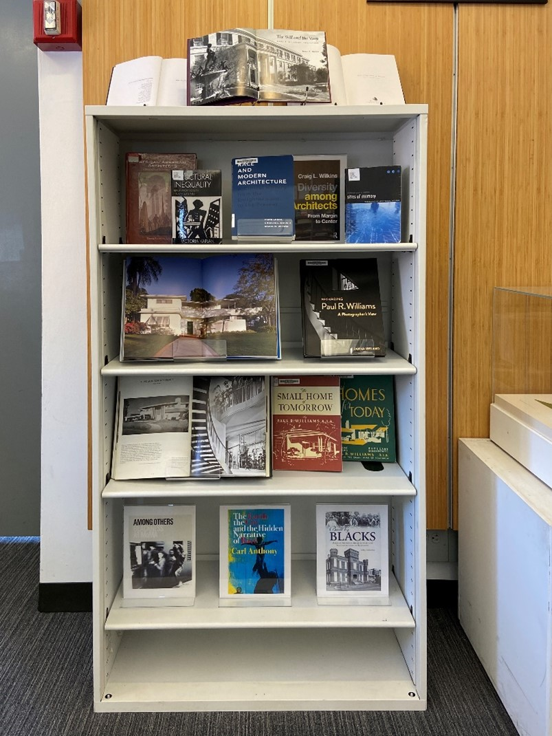 bookshelf in King+King Architecture Library