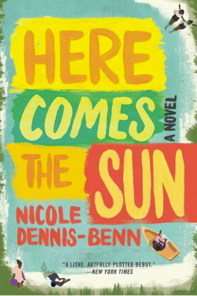 Colorful blue, teal, orange, and yellow cover of Here Comes the Sun
