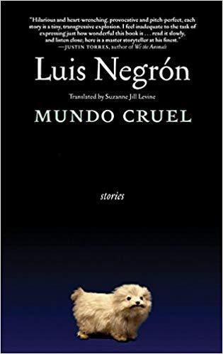 Dark blue and black cover of Mundo Cruel